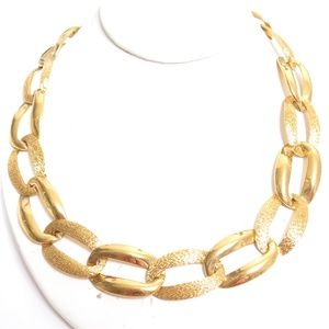 Napier Jewelry - Vintage NAPIER Chunky Gold Plated Chain Necklace